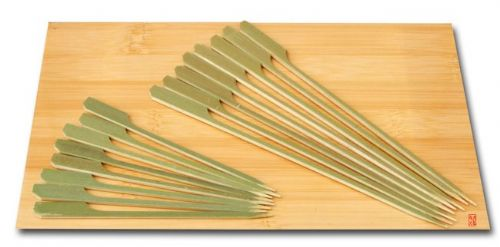 Twin cocktail stick set - Cocktail & cooking Paddle skewers bamboo 10 & 18cm x 100 - Japanese style